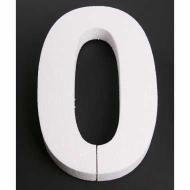 Cijfer nul van piepschuim 25 cm
