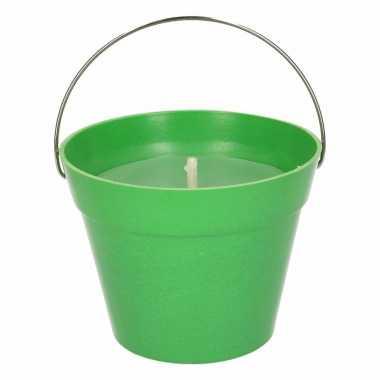 Citronella kaars 14 cm groen