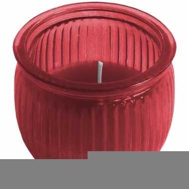 Citronella kaars 7,5 cm rood