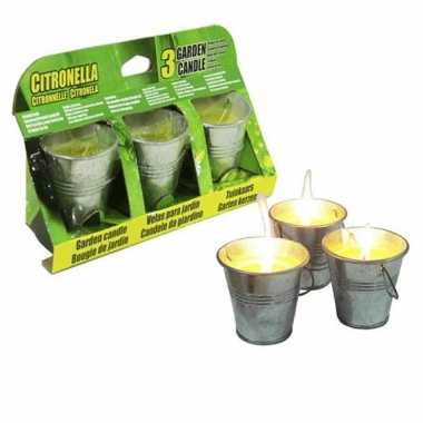 Citronella kaarsjes 3 stuks 6.5 cm