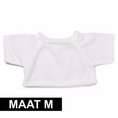 Clothies knuffel kado shirt m wit met ruimte voor tekst