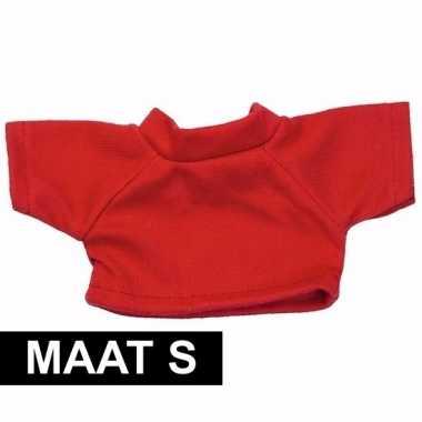 Clothies knuffel kado shirt s rood met ruimte voor tekst
