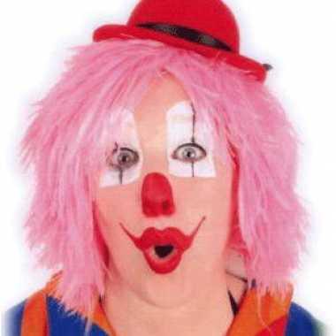 Clownspruiken in het roze