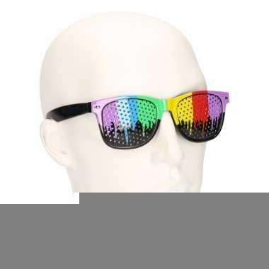 Clubmaster zonnebril in regenboog kleuren