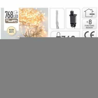 Clusterverlichting warm wit buiten 768 lampjes