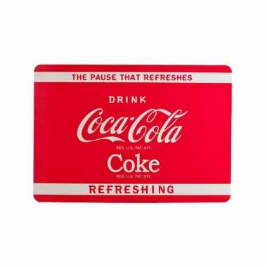 Coca cola placemat rood