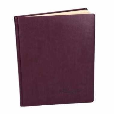 Cognac bruin notitieboek 27 cm