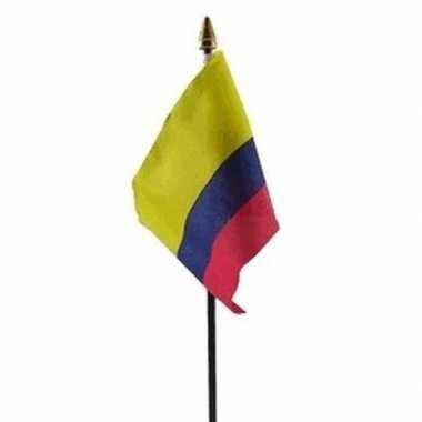 Colombia vlaggetje met stokje
