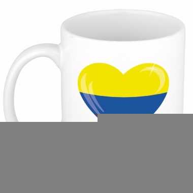 Colombiaanse vlag hartje theebeker 300 ml