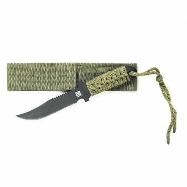 Combat mes groen voor survival 19.5 cm