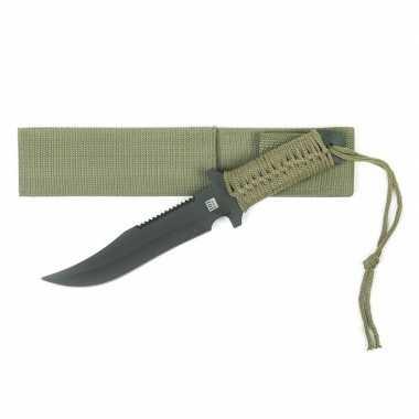 Combat mes groen voor survival 27 cm
