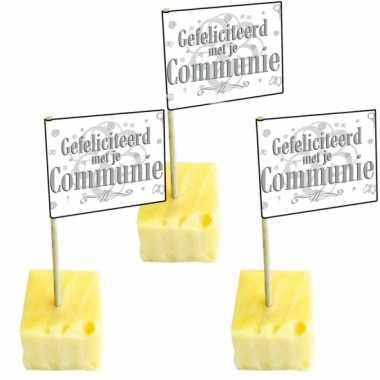 Communie cocktailprikkers 50 stuks