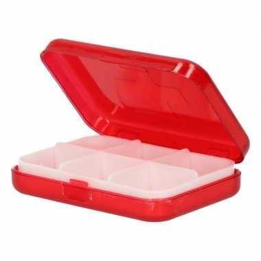 Compact pillendoosje / medicijndoos 6 vakken