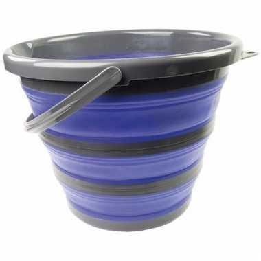 Compacte schoonmaak emmer blauw