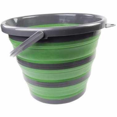 Compacte schoonmaak emmer groen