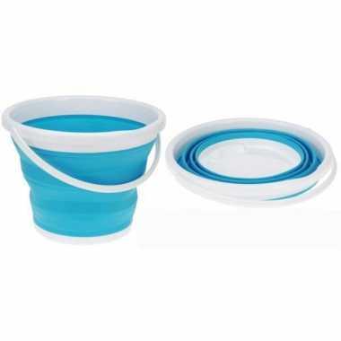 Compacte strandemmer blauw