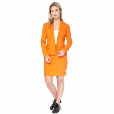 Compleet oranje dames kostuum