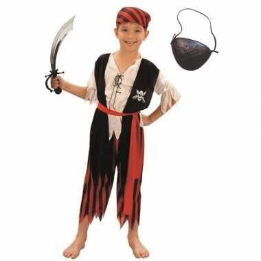 Compleet piraten kostuum maat m voor kinderen
