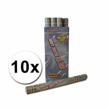 Confetti kanonnen 60 cm zilver 10x