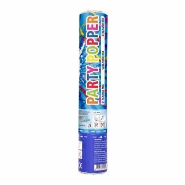 Confetti party wimpel kanon gekleurd 26 cm