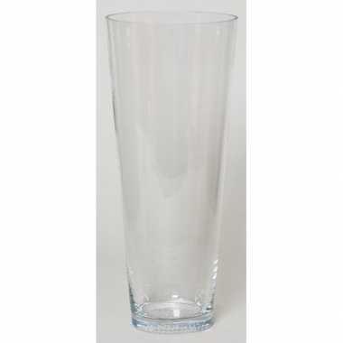 Conische vaas helder glas 43 cm