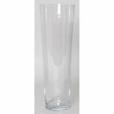 Conische vaas helder glas 50 cm