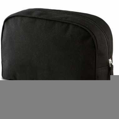 Cosmetica tasje zwart 28 cm