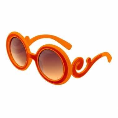 Dame edna bril gekruld oranje