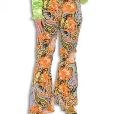Dames broek met uitlopende pijpen