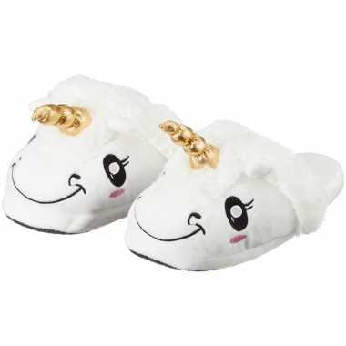 Dames dieren pantoffels/sloffen eenhoorn slippers