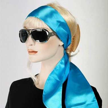 Dames shawl turquoise