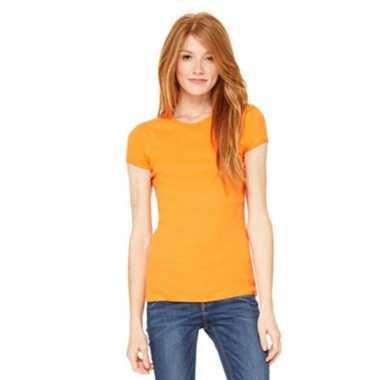 Dames skinny shirts hanna oranje