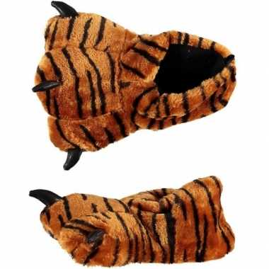 Dames sloffen tijgerpoot