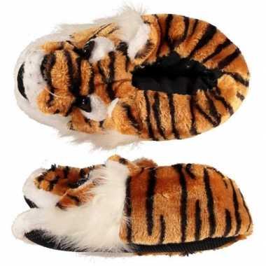 Dames warme sloffen tijger maat 39/40