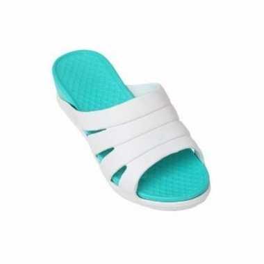 Dames zwembad/sauna slippers zeeblauw