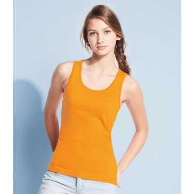 Dameskleding oranje tanktop jane