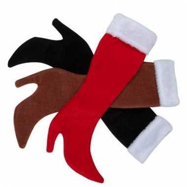 Dameslaars kerstsokken bruin