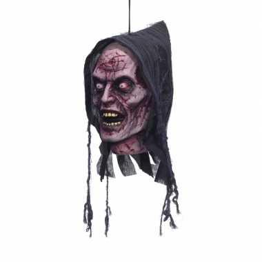 Deco horror afgehakt geesten hoofd met capuchon