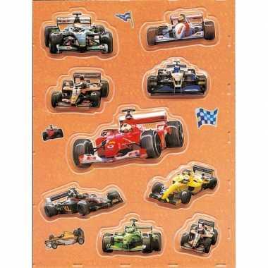 Decoratie 3d raceauto stickers