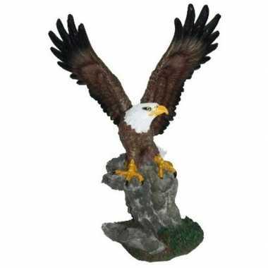 Decoratie amerikaanse zeearend beeldje 28 cm