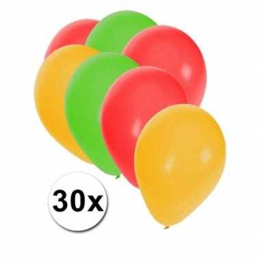 Decoratie ballonnen carnaval 30 stuks