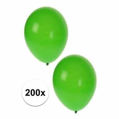 Decoratie ballonnen groen 200 st