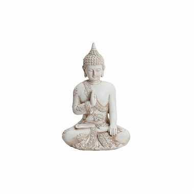 Decoratie beeld boeddha 17 cm