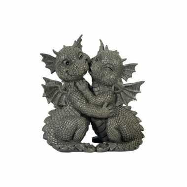 Decoratie beeld draken 26 cm