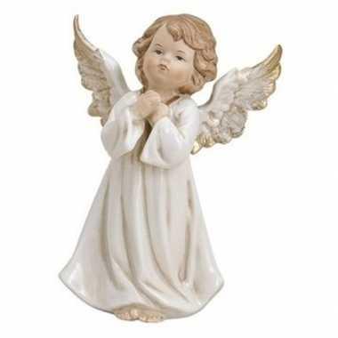 Decoratie beeldje engeltje biddend 9 cm