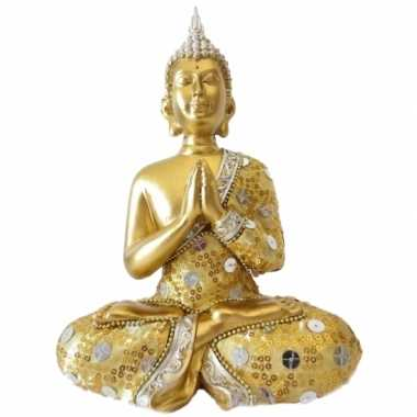 Decoratie boeddha thais goud 22 cm