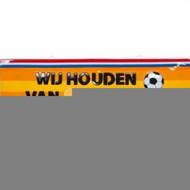 Decoratie bord voetbal 115x35 cm