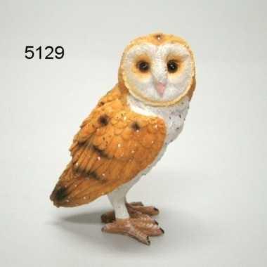 Decoratie dieren beeld kerkuil vogel 9 cm