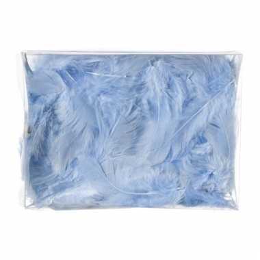 Decoratie dons veren blauw 5 gram