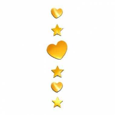 Decoratie hart en ster goud 90 cm